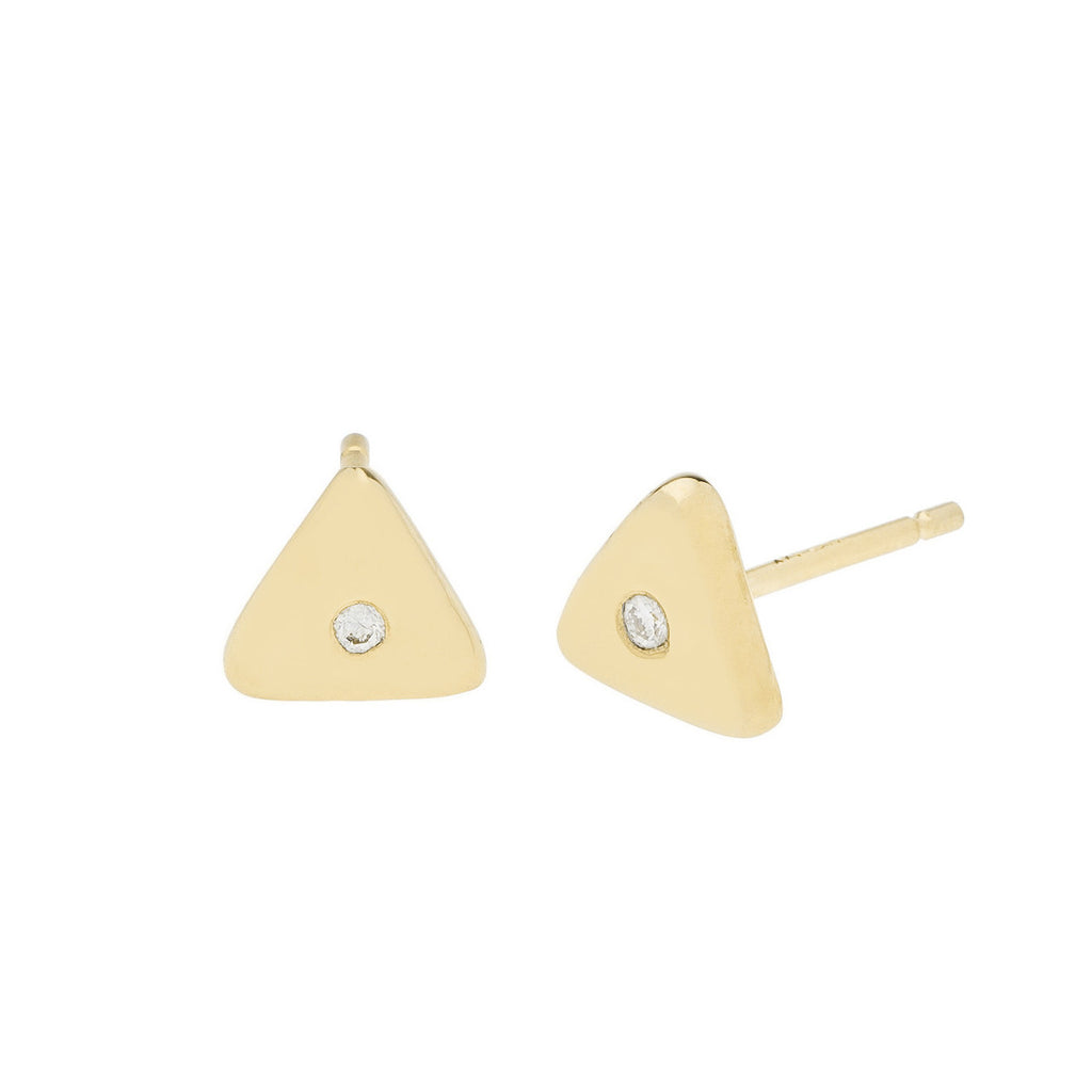 Geo Stud - Triangle - Gold - Diamond