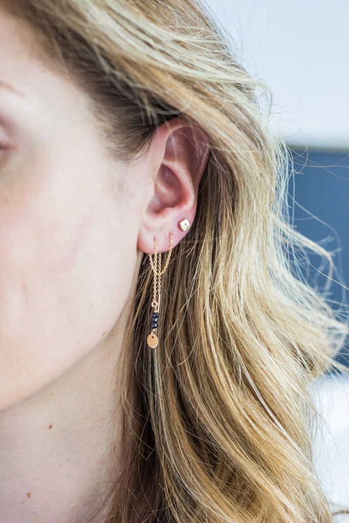Uncommon Thread Earrings on model