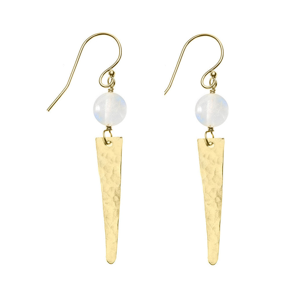 Lance Earrings - Moonstone