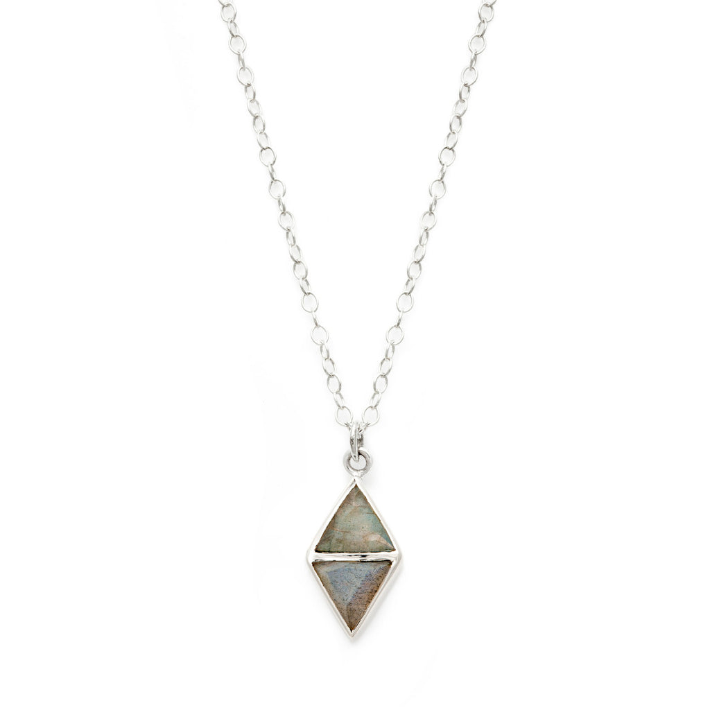 Mirror Necklace - Labradorite