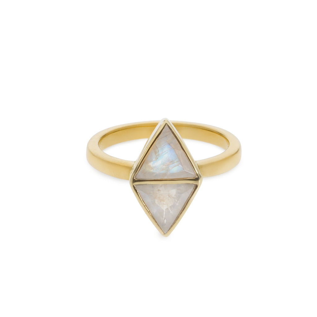 Mirror Ring - Moonstone
