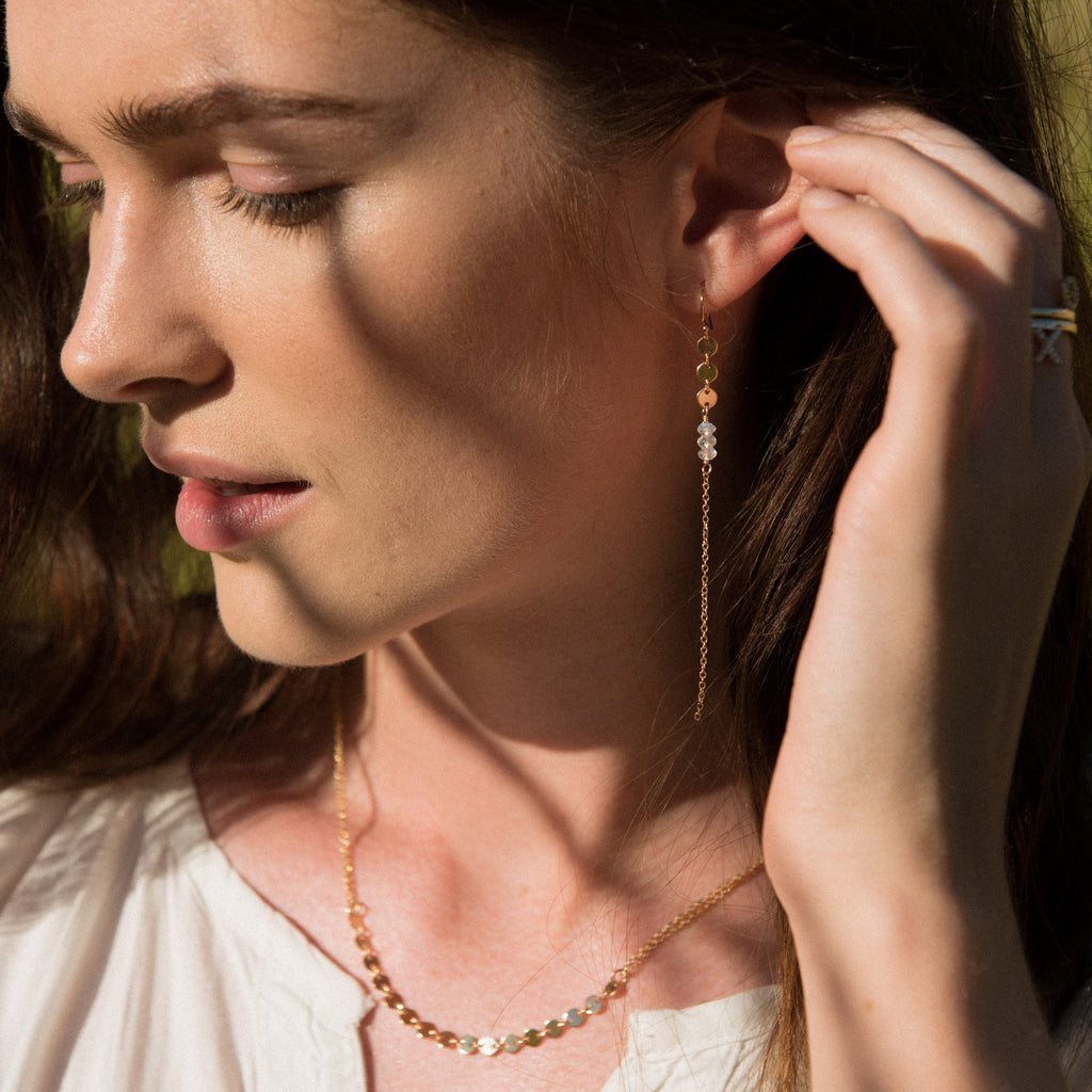 Stargazer Earrings on model
