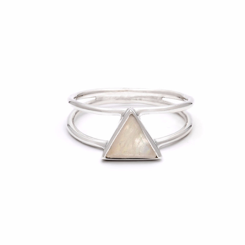 Trinity Ring in Moonstone