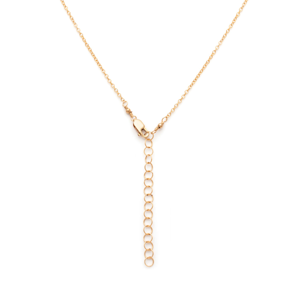Fine chain necklace length extender
