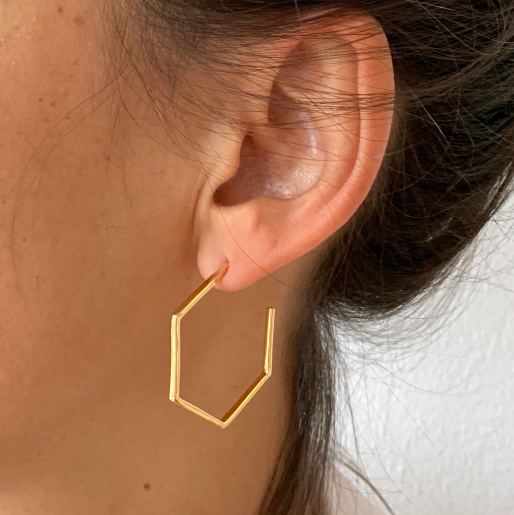 Hexagon Hoops - close-up
