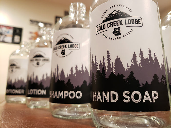 various customized bottles for hotel amenities