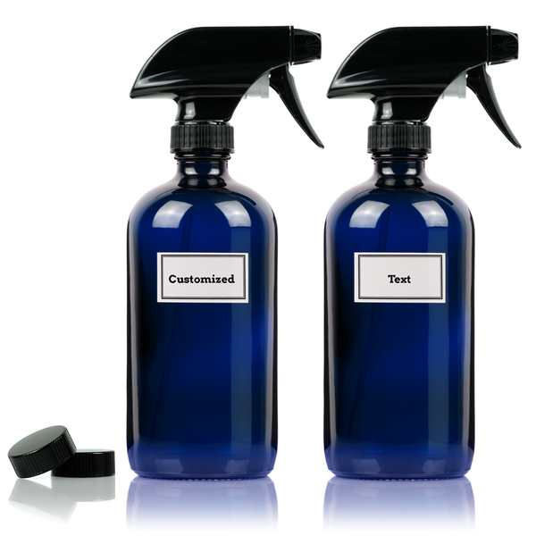 Cobalt Blue Trigger Sprayer Bottle Set