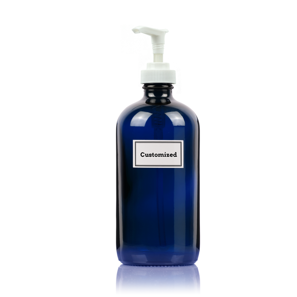 Cobalt Blue Glass Pump Dispenser