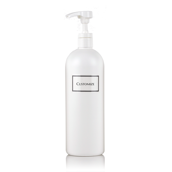 White 32 oz (Jumbo) Single Plastic Bottle