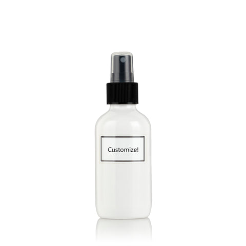 White Powder Coated Glass Small 4 oz Spray Bottle