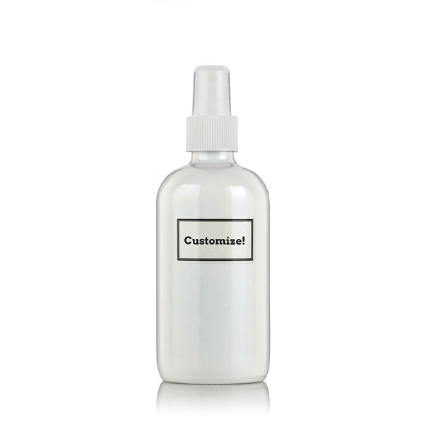White Powder Coated Glass 8 oz Spray Bottle