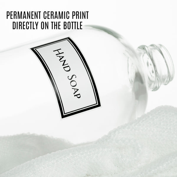 Ceramic Printed Clear Glass Hand Soap Dispenser