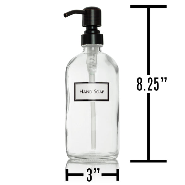 IMPERFECT DISCOUNT: Ceramic Printed Clear Glass Dispenser