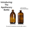Amber Brown Glass Soap Dispenser Apothecary Bottle with Retro Label