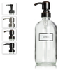 Glass Lotion Dispenser Bottle with Ceramic Printed Label