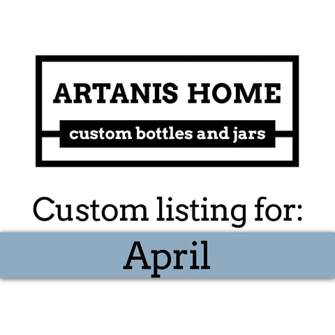 Custom Listing for April