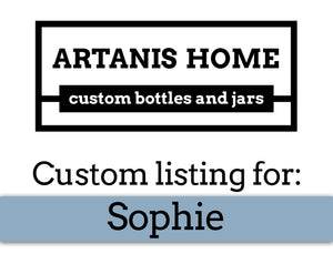 Custom Listing for Sophie - additions