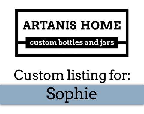 Custom Listing for Sophie