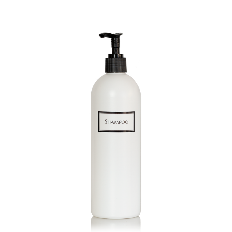 Silkscreened Cosmo/Bullet White Single Shower Bottle