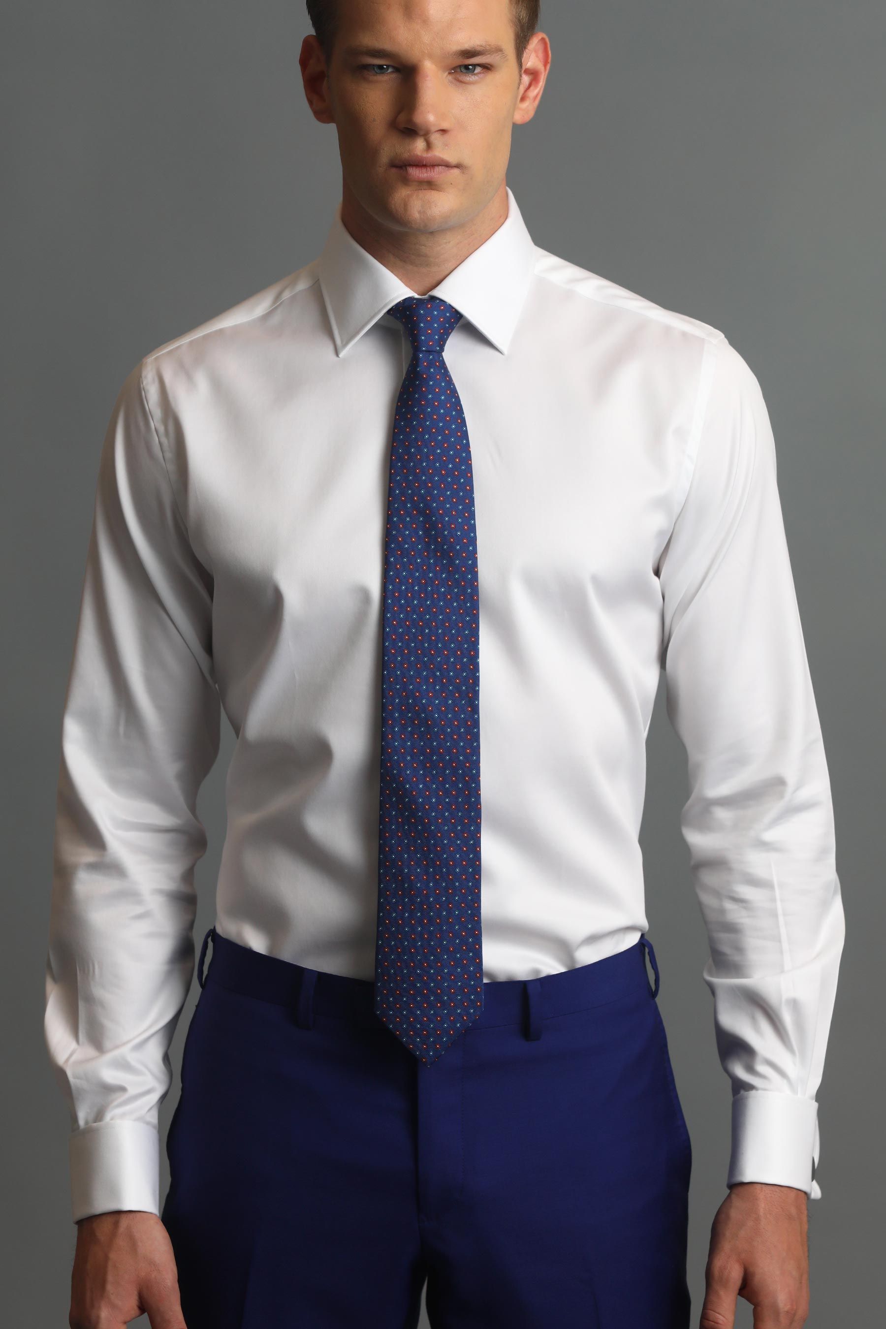 White Poplin Cotton Dress Shirt