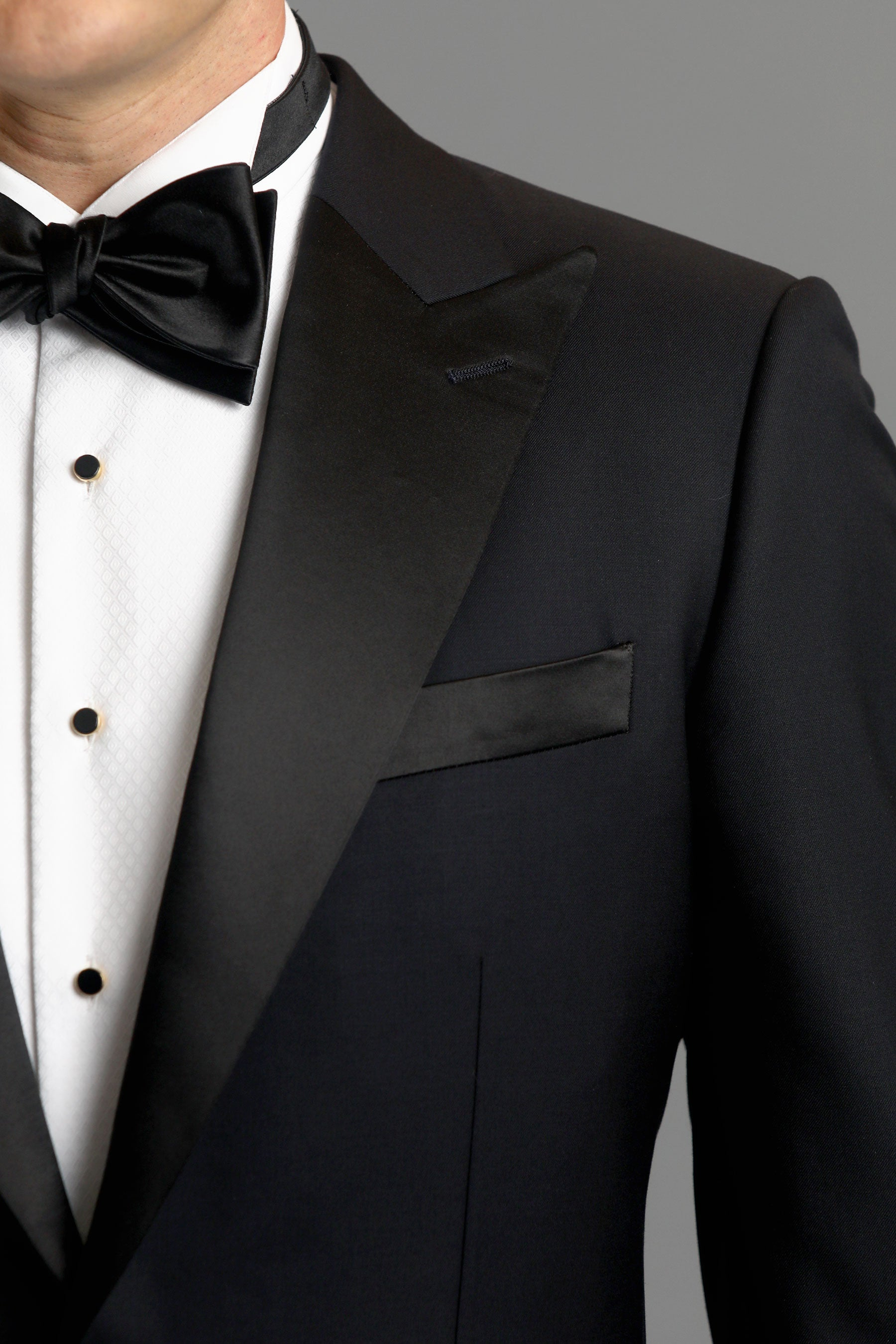 Black Classic One-Button Wool Tuxedo