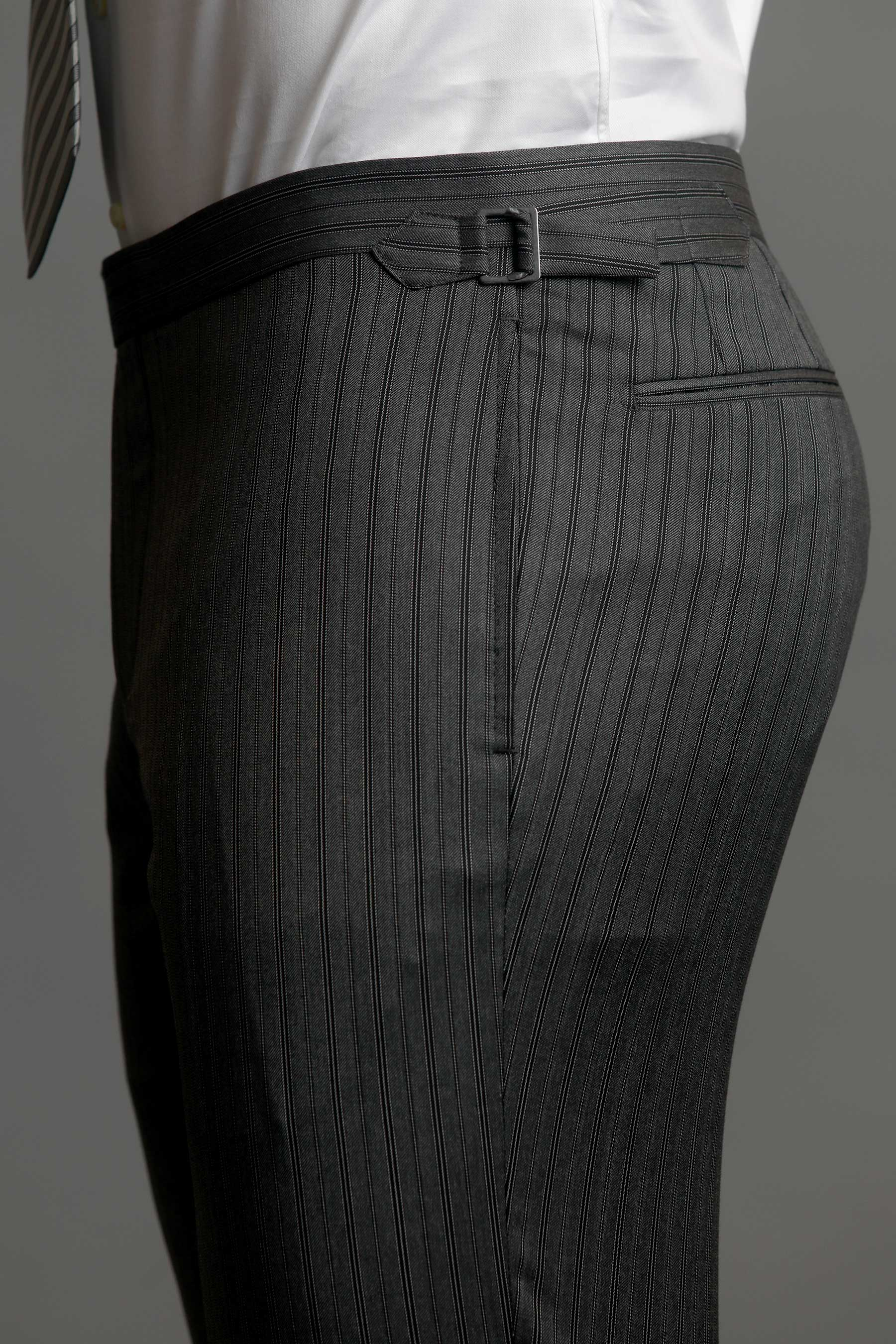 Grey and Black Striped Morning Dress Trousers