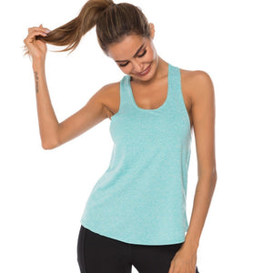 WOMEN'S GYM TOP RACERBACK