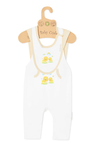 """Oh Little Lion"" S/L Jumpsuit & Bib set"