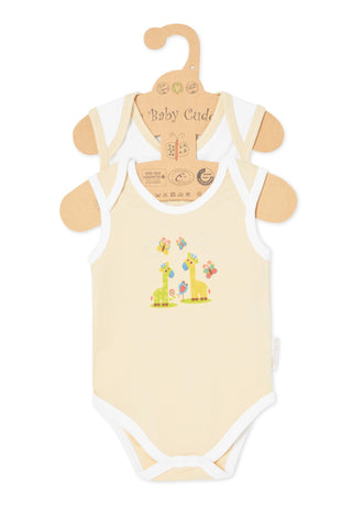 """Cuddle Me Panda & Love Me Giraffe"" S/L Bodysuit set"