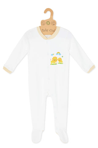 """Oh Little Lion L/S Growsuit"" with Mittens"