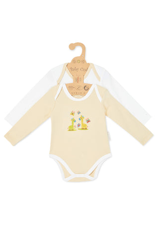 """Cuddle Me Panda & Love Me Giraffe"" L/S Bodysuit Set"