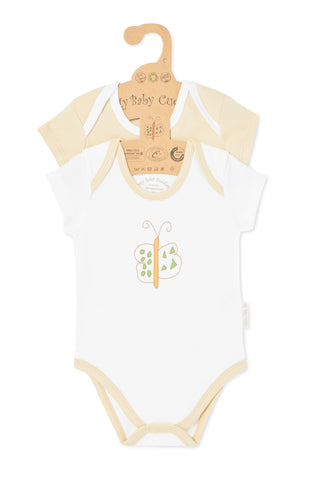 """Cute like a Butterfly & Oh Little Lion"" S/S Bodysuit Set"