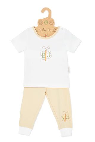"""Cute like a Butterfly S/S Tee"" & Pant Set"