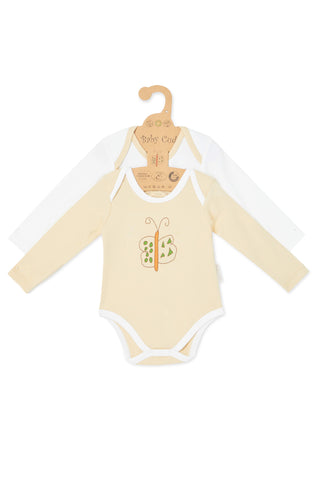 """Cute like a Butterfly & Oh Little Lion"" L/S Bodysuit set"