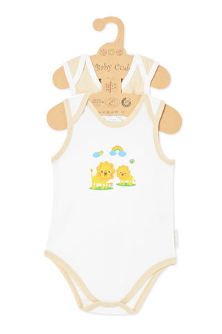 """Cute like a Butterfly & Oh Little Lion"" S/L Bodysuit set"
