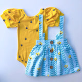 Puff Sleeve Leotard, Bees are Buzzing - Lemon and Lucy