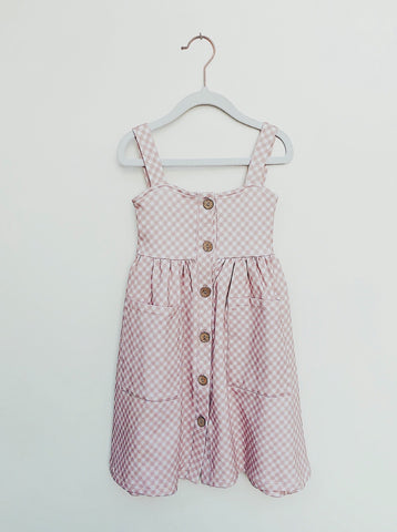 Pink Gingham Dress - Lemon and Lucy