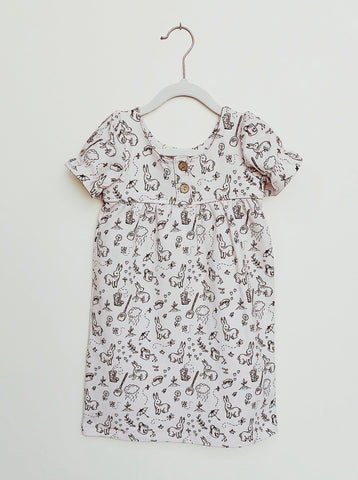 Bunny Print Dress - Lemon and Lucy