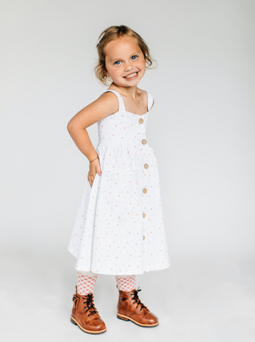 Dottie Flower Dress - Lemon and Lucy