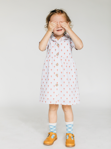 Hot Air Balloon Button Up Dress - Lemon and Lucy
