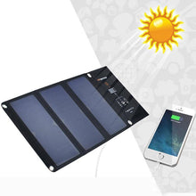 Load image into Gallery viewer, High Quality 21W Solar Charger Portable Folding Foldable Solar Panel Charger Battery Solar power bank Charger for Cellphone
