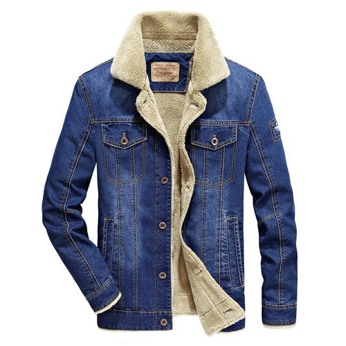 Winter Men Fashion Denim Jacket Men's Fashion Casual Jacket Men Brand  Slim Fit Denim Jackets Male