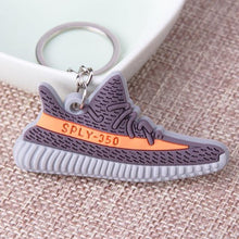 Load image into Gallery viewer, Mini Silicone SPLY-350 V2 Shoes Keychain Woman Men Kids Key Ring Gift Porte Clef Sneaker Key Chain