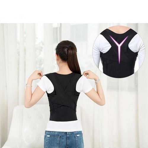 Children Adult Corset Back Posture Corrector Therapy Shoulder Lumbar Brace Spine Support Belt Posture Correction