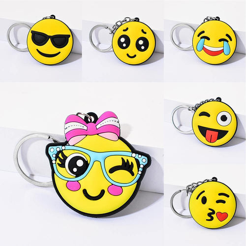 Emoji Keychain Cool laughing Show love Emoji Key Chain Support Wholesale Cute Key Holder