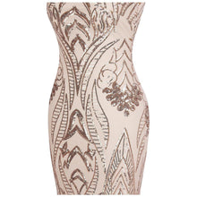 Load image into Gallery viewer, Cap Sleeve Bateau V Back Vintage Sequin Mermaid Long Evening Dress Light Coral