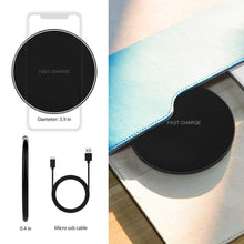 Load image into Gallery viewer, 10W Fast Wireless Charger For iPhone X 8 XS Max XR Qi Wireless Charger for Samsung S8 S9 Plus USB Phone Charger Pad
