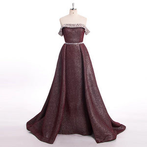 Pink Burgundy Beading Luxury Slim Sexy Mermaid Evening Dresses Vintage High-end Evening Gowns