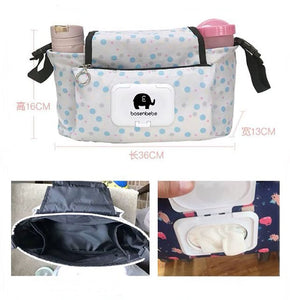 Baby Stroller Organizer Bag Mummy Diaper Bag Hook Baby Carriage Waterproof Large Capacity Stroller Accessories Travel Nappy
