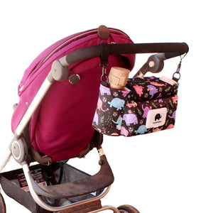 Print Strollers Baby Trolley Bag with Detachable Handbag Multifunctional Baby Stroller Organizer
